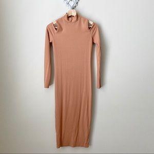 Anthropologie Sen Camel long sleeve dress